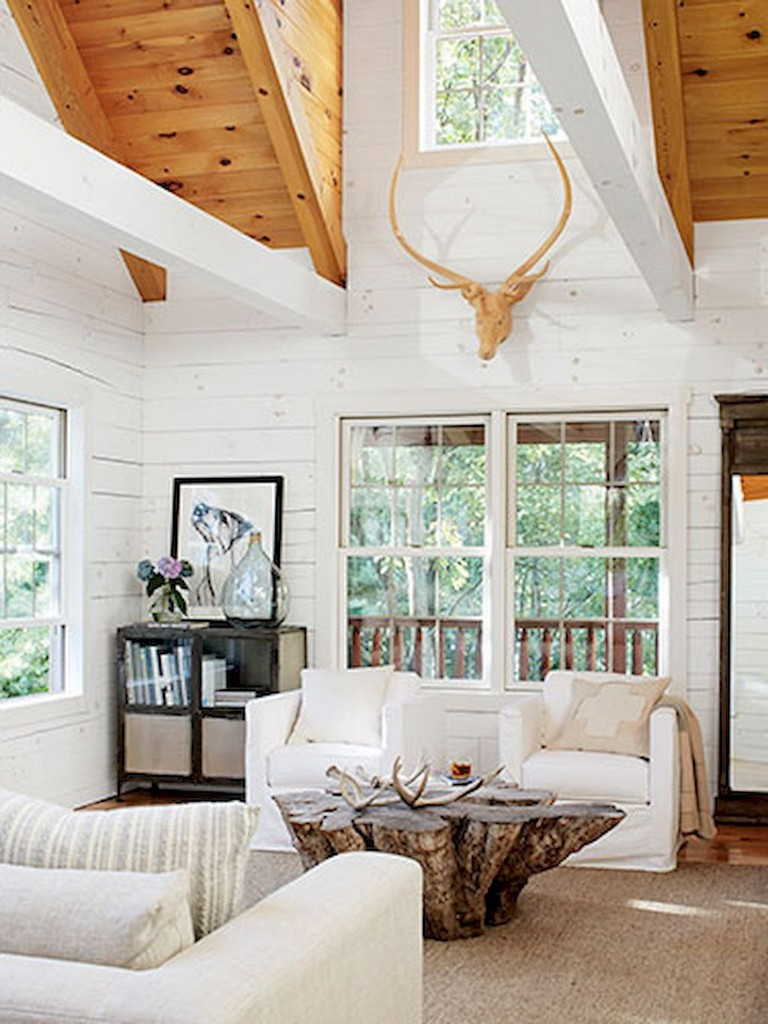 42+ Comfy Lake House Living Room Decor Ideas - Page 38 of 44