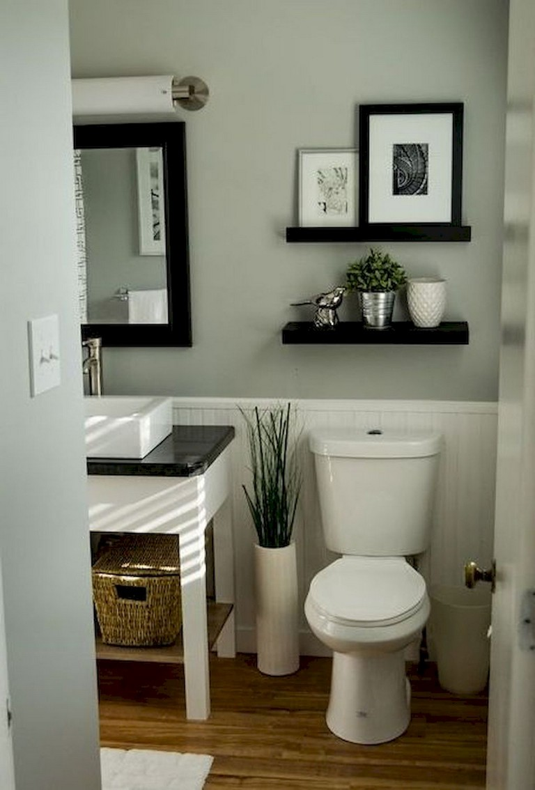 53+ Amazing Modern Farmhouse Small Master Bathroom Ideas ... on Amazing Small Bathrooms  id=14082