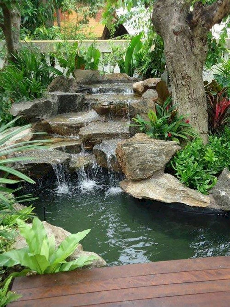 62 Beautiful Backyard Ponds And Water Feature Landscaping Ideas Page 44 Of 63