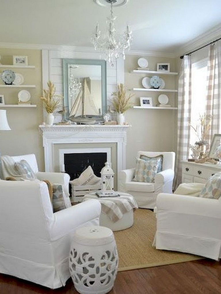 77+ Comfy Coastal Living Room Decorating Ideas - Page 25 of 79