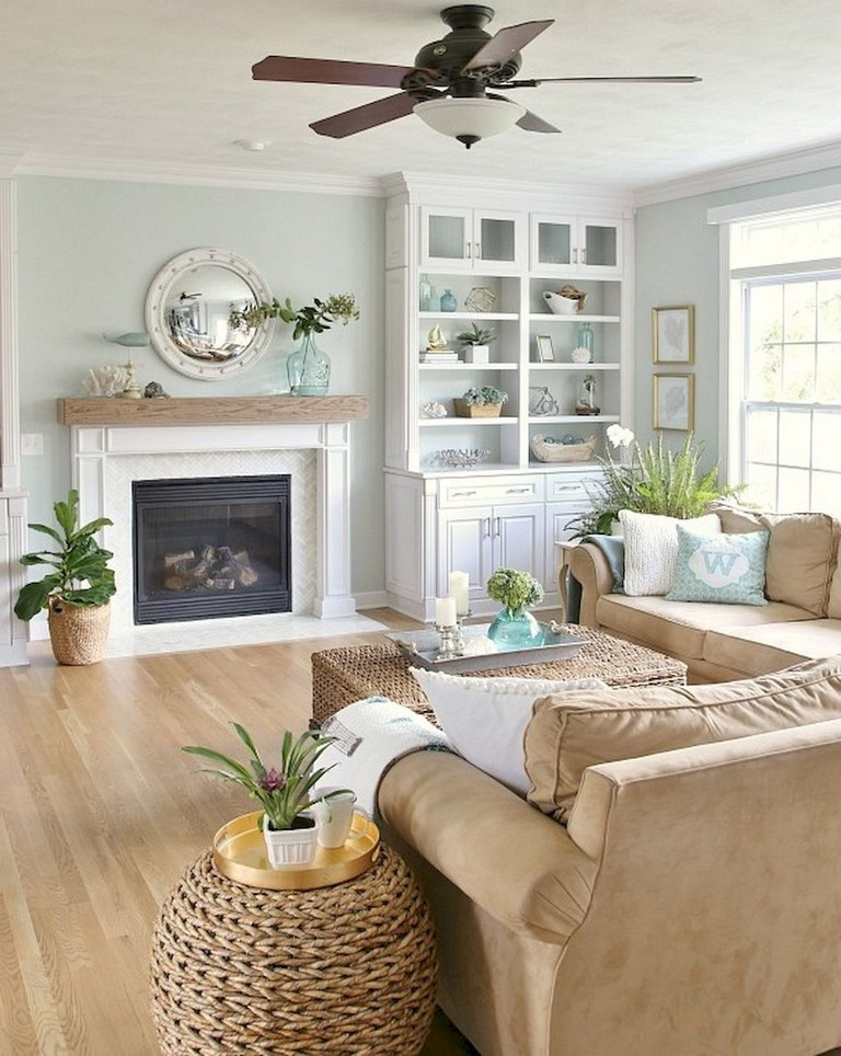 77+ Comfy Coastal Living Room Decorating Ideas - Page 28 of 79