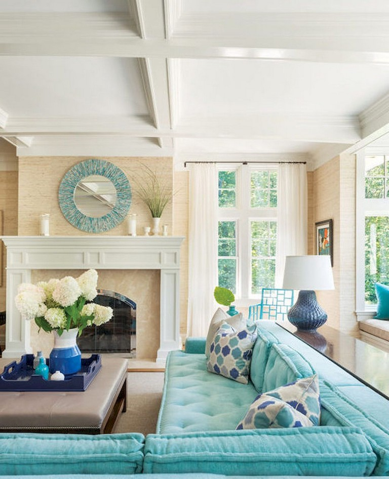77+ Comfy Coastal Living Room Decorating Ideas - Page 59 of 79