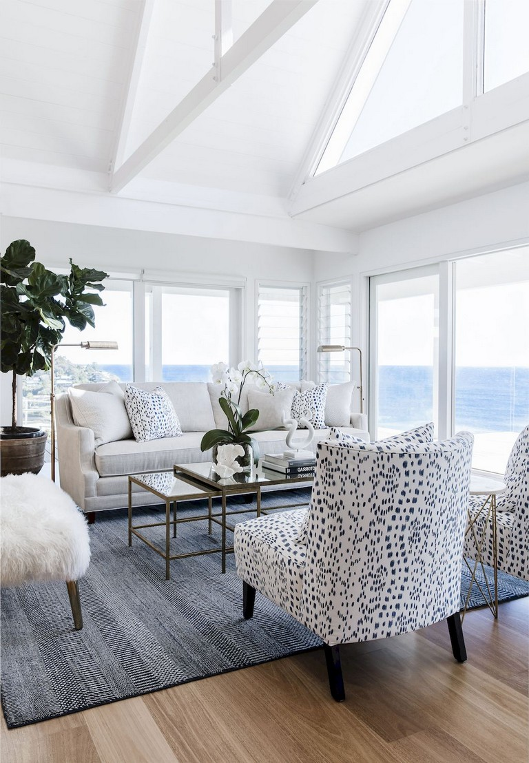 77+ Comfy Coastal Living Room Decorating Ideas - Page 63 of 79