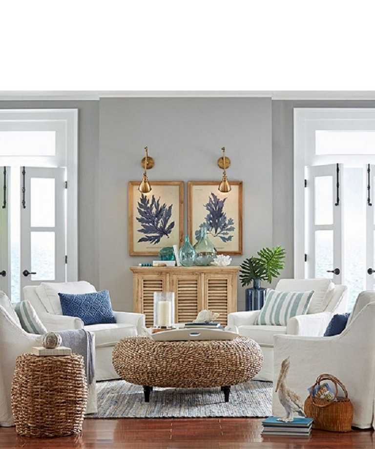 77+ Comfy Coastal Living Room Decorating Ideas - Page 8 of 79