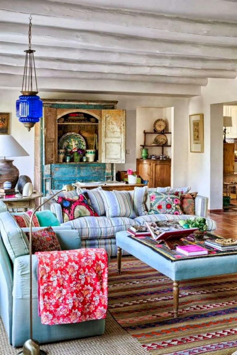78+ Comfy Modern Bohemian Living Room Decor and Furniture ... on Modern Boho Room  id=78368