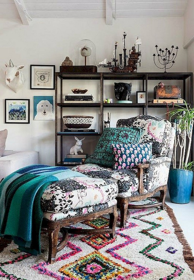 78+ Comfy Modern Bohemian Living Room Decor and Furniture ... on Modern Boho Room  id=74405