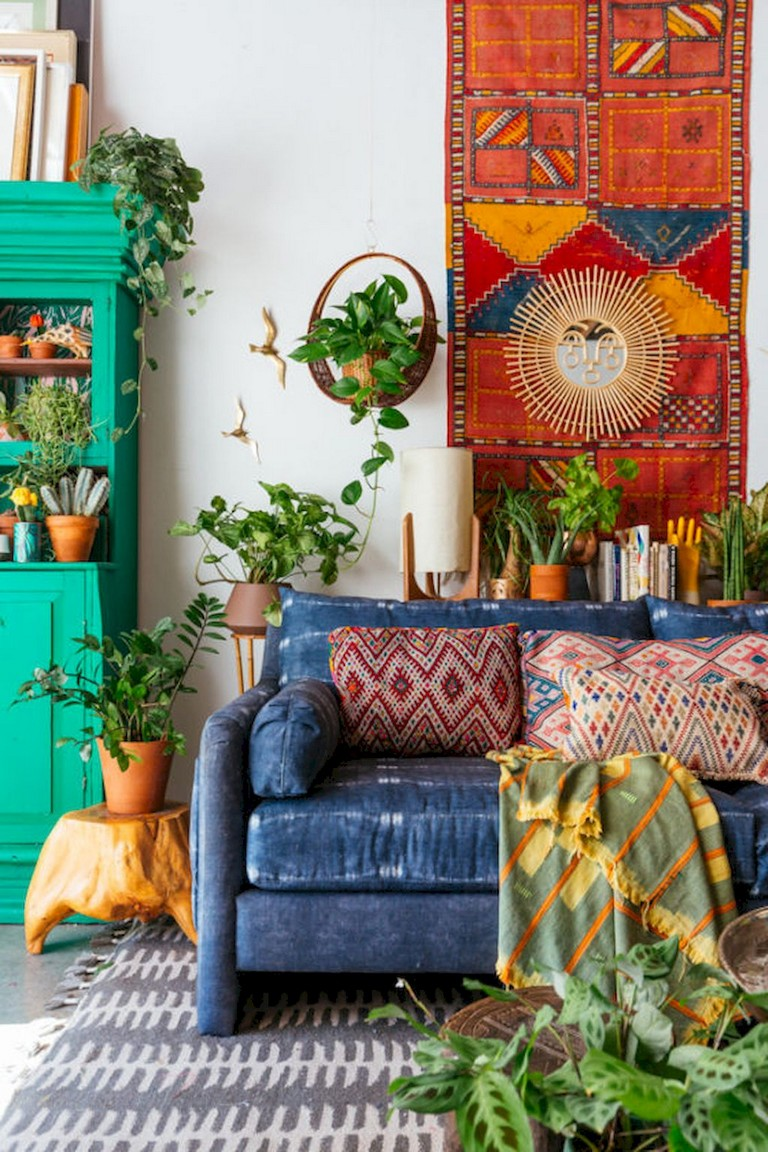 78 Comfy Modern Bohemian Living Room Decor And Furniture