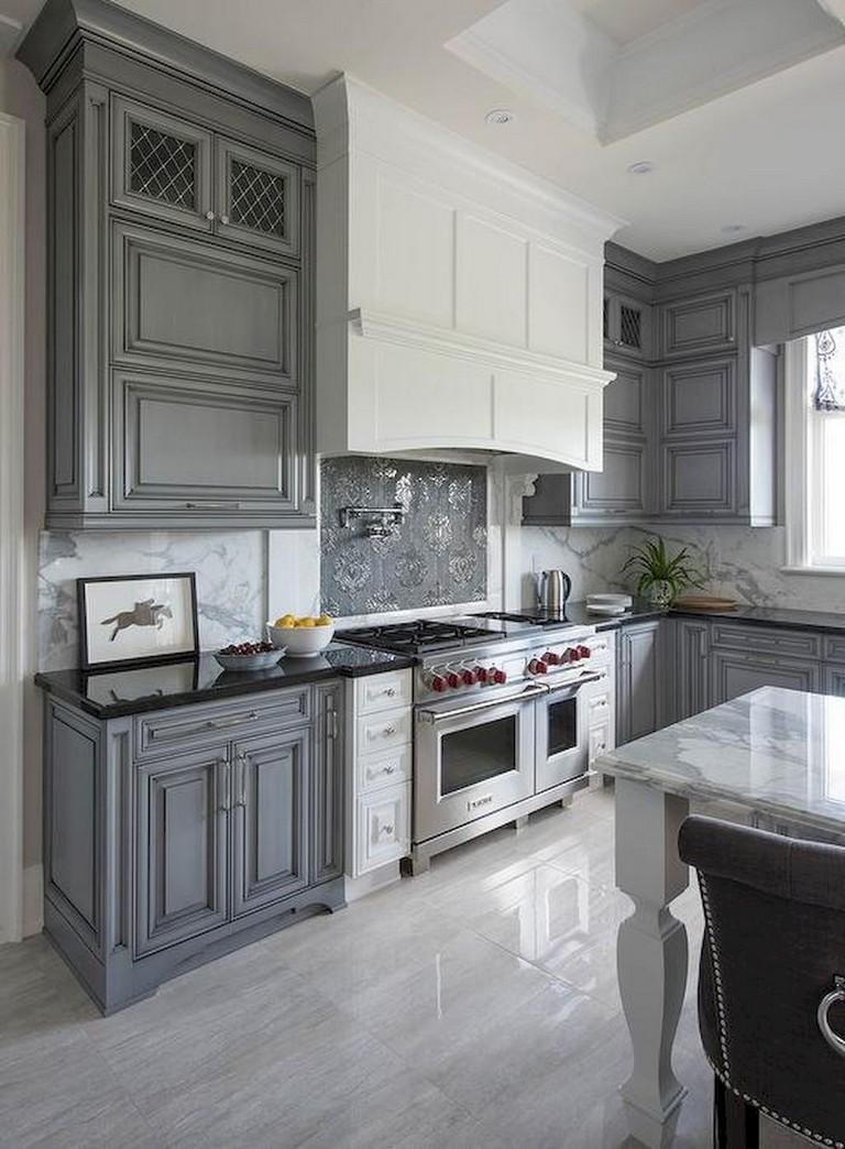 88+ Top Farmhouse Gray Kitchen Cabinet Design Ideas - Page ...